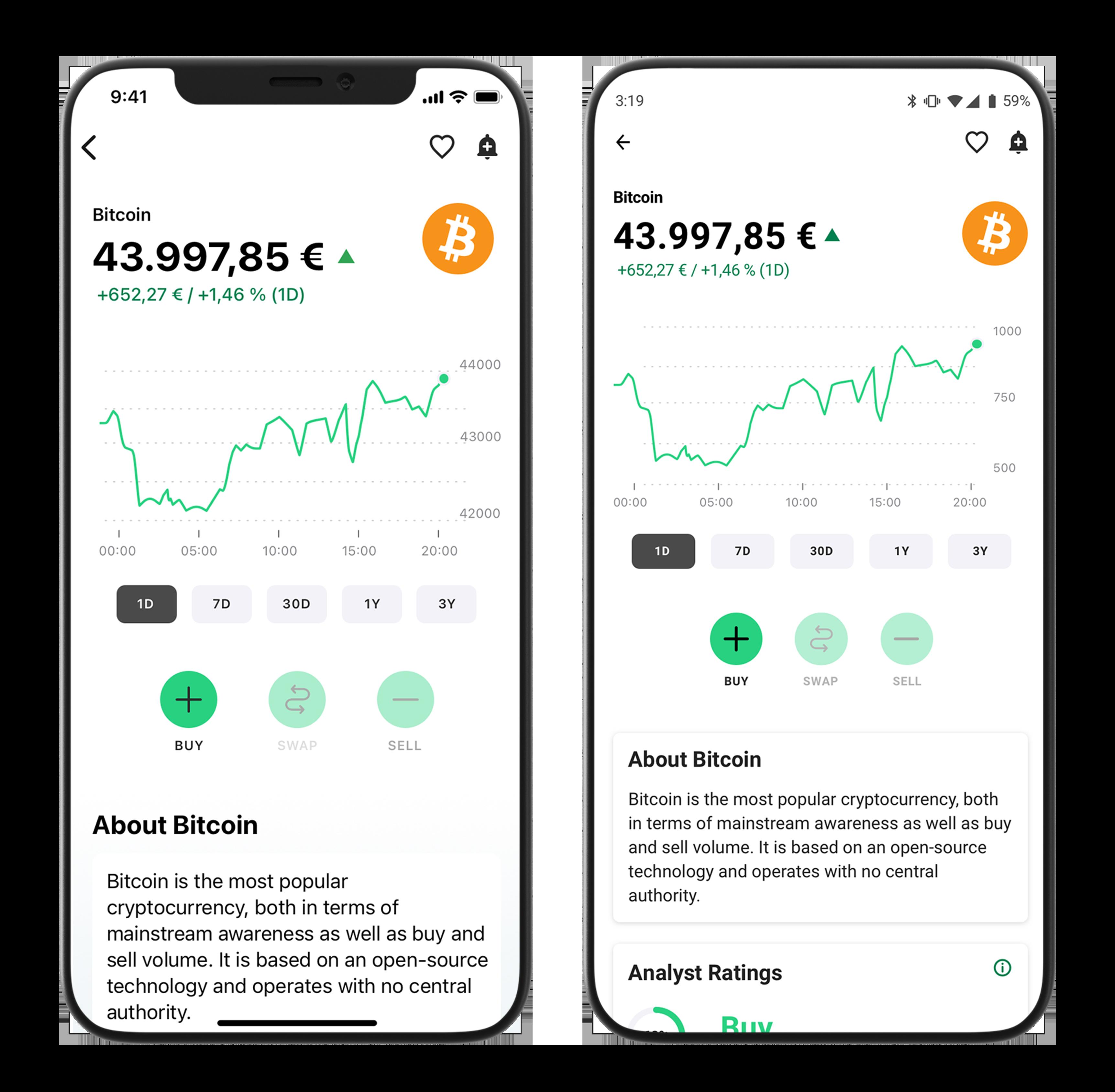 Bitpanda Smart Investment App   Mobile Trading